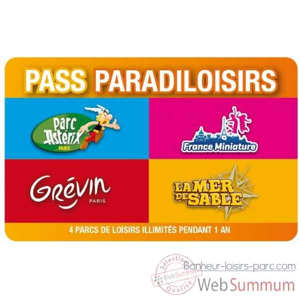 Pass Paradiloisirs - Parc Asterix-Mer de Sable-Musee Grevin-France Miniature- Pass-Adulte Annuel